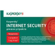 Фото Компьютерное ПО Kaspersky Internet Security Multi-Device Russian Ed. 5-Device 1 year Renewal Card (KL1941ROEFR)