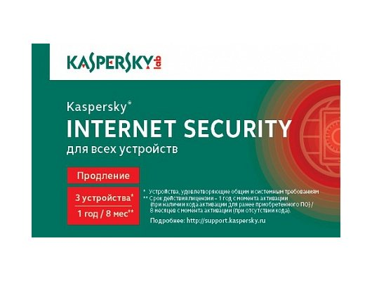Компьютерное ПО Kaspersky Internet Security Multi-Device Russian Ed. 3-Device 1 year Renewal Card (KL1941ROCFR)