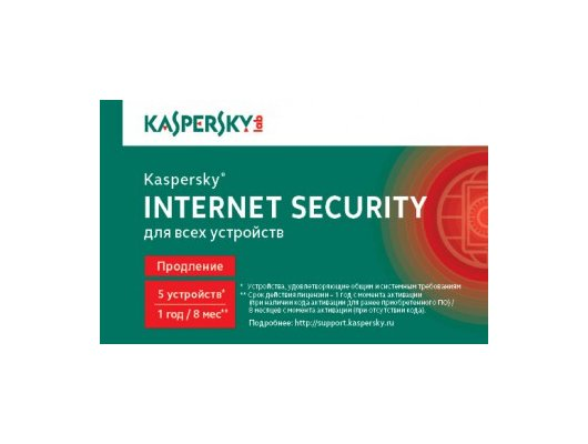 Компьютерное ПО Kaspersky Internet Security Multi-Device Russian Ed. 5-Device 1 year Renewal Card (KL1941ROEFR)