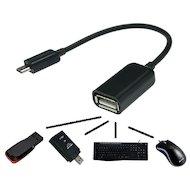 Кабель Solomon OTG microUSB - USB 2.0 (0.22м.)