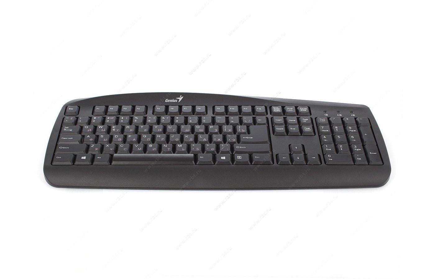Клавиатура проводная Genius KB-110 (PS/2) black color box