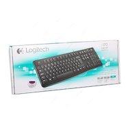 Фото Клавиатура проводная Logitech Keyboard K120 проводная USB чёрная (920-002506)