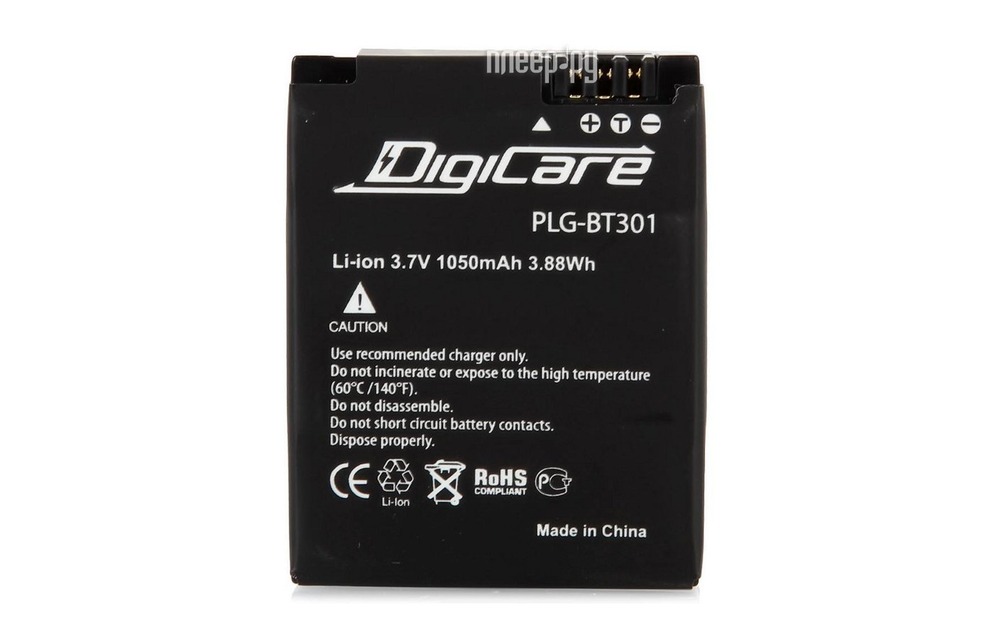 DigiCare PLG-BT302 Аккумулятор для GoPro AHDBT-302