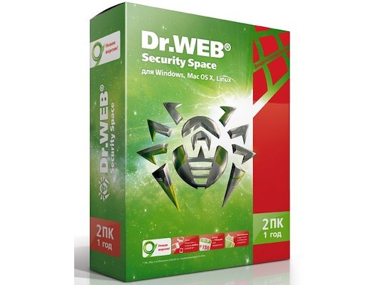 Компьютерное ПО Dr.Web Security Space 2 ПК/1 год (BHW-B-12M-2-A3)