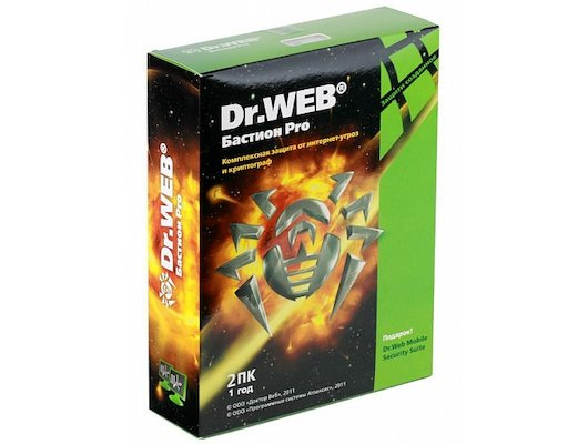 Компьютерное ПО Dr.Web Security Space PRO + криптограф Atlansys Bastion 2 ПК на 12 мес, BOX (BHW-BR-12M-2-A3)