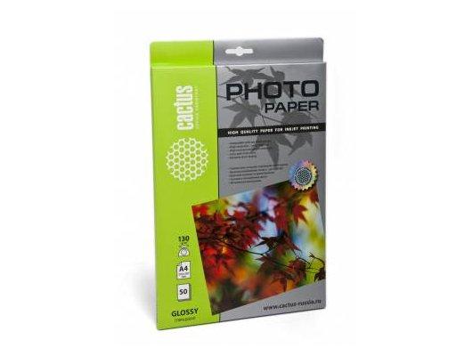 Фотобумага Cactus CS-GA413050 A4/130г/м2/50л./белый глянцевое для струйной печати