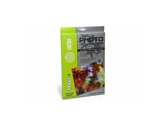 Фотобумага Cactus CS-GA418050DS A4/180г/м2/50л./белый глянцевое для струйной печати