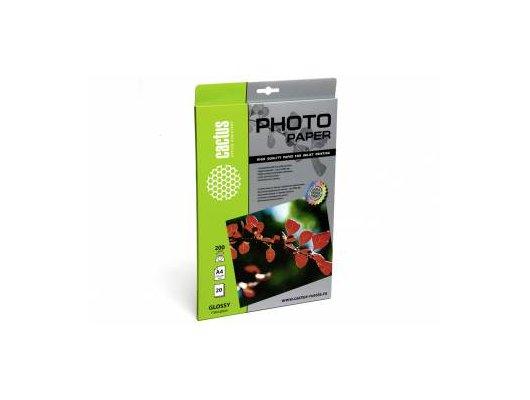 Фотобумага Cactus CS-GA420020 A4/200г/м2/20л./белый глянцевое для струйной печати