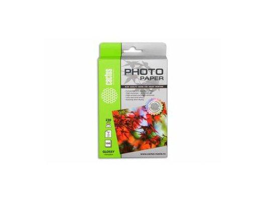Фотобумага Cactus CS-GA6230100 10x15/230г/м2/100л./белый глянцевое для струйной печати