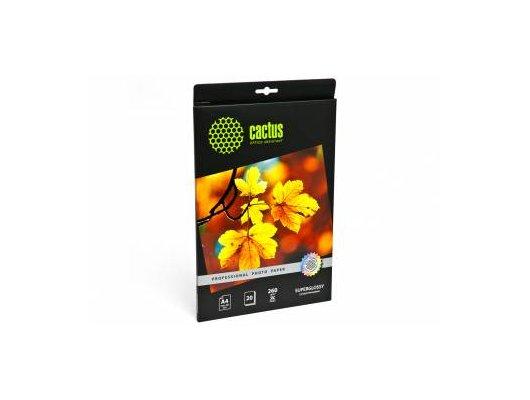Фотобумага Cactus CS-HGA426020 Prof A4/260г/м2/20л./белый глянцевое для струйной печати
