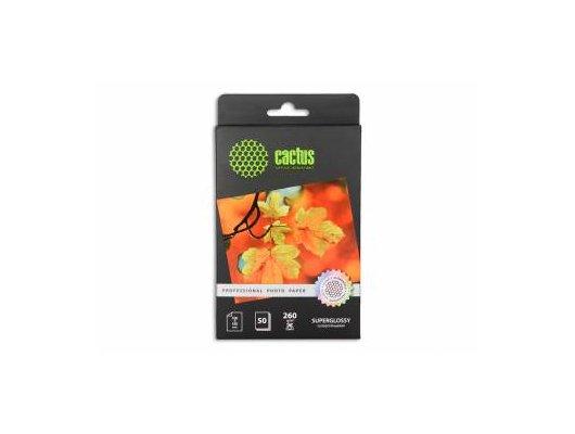 Фотобумага Cactus CS-HGA626050 Prof 10x15/260г/м2/50л./белый глянцевое для струйной печати