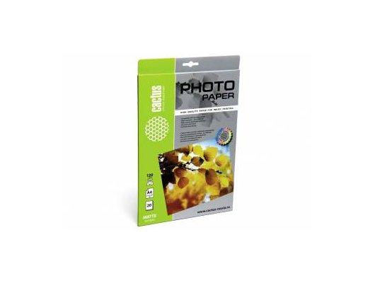Фотобумага Cactus CS-MA412020 A4/120г/м2/20л./белый матовое для струйной печати