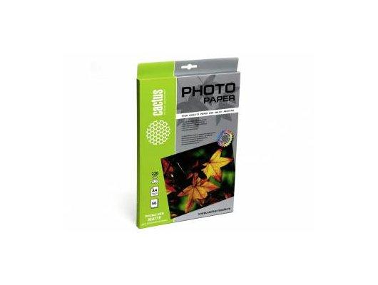 Фотобумага Cactus CS-MA422050DS двухсторонняя A4/220г/м2/50л./белый матовое/матовое для струйной печати