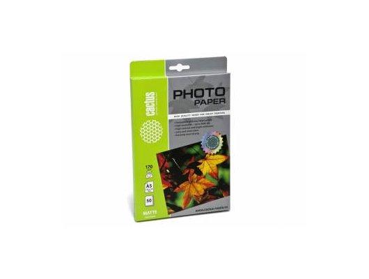 Фотобумага Cactus CS-MA517050 A5/170г/м2/50л./белый матовое для струйной печати