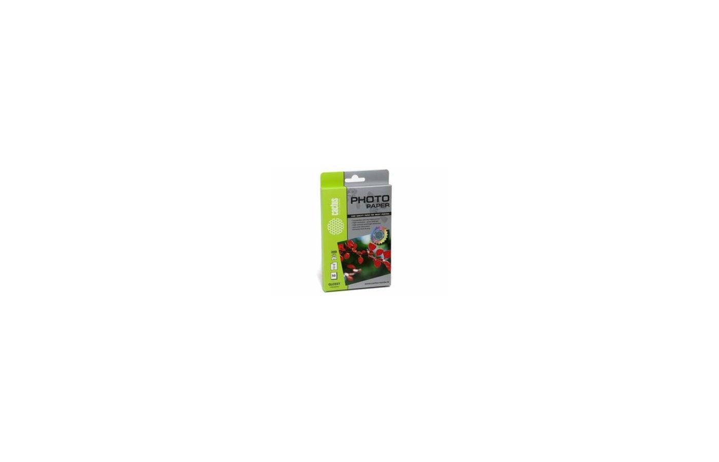 Фотобумага Cactus CS-GA620050/200г/м2/50л./белый глянцевое для струйной печати