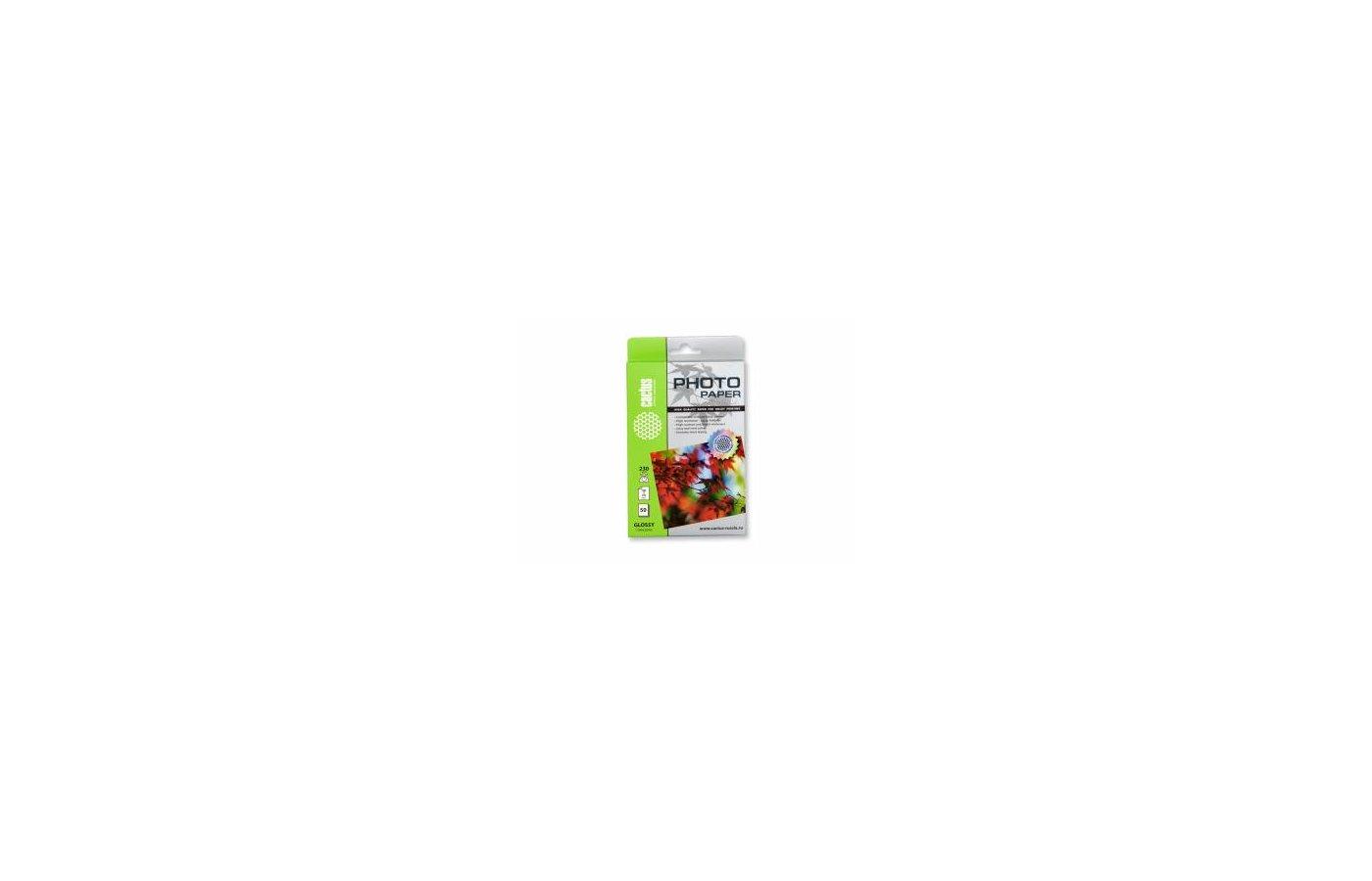 Фотобумага Cactus CS-GA623050 10x15/230г/м2/50л./белый глянцевое для струйной печати