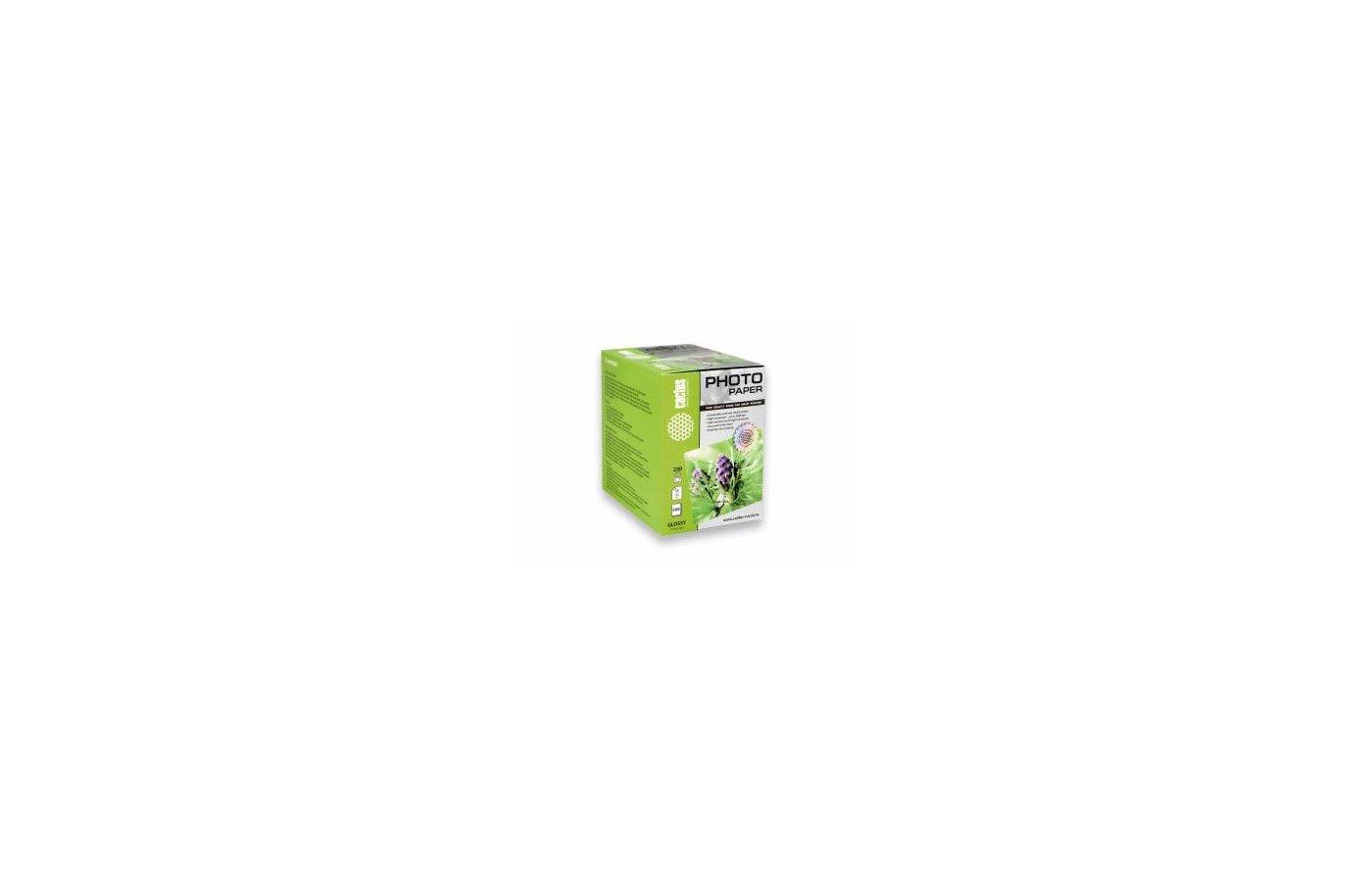 Фотобумага Cactus CS-GA6230500 10x15/230г/м2/500л./белый глянцевое для струйной печати