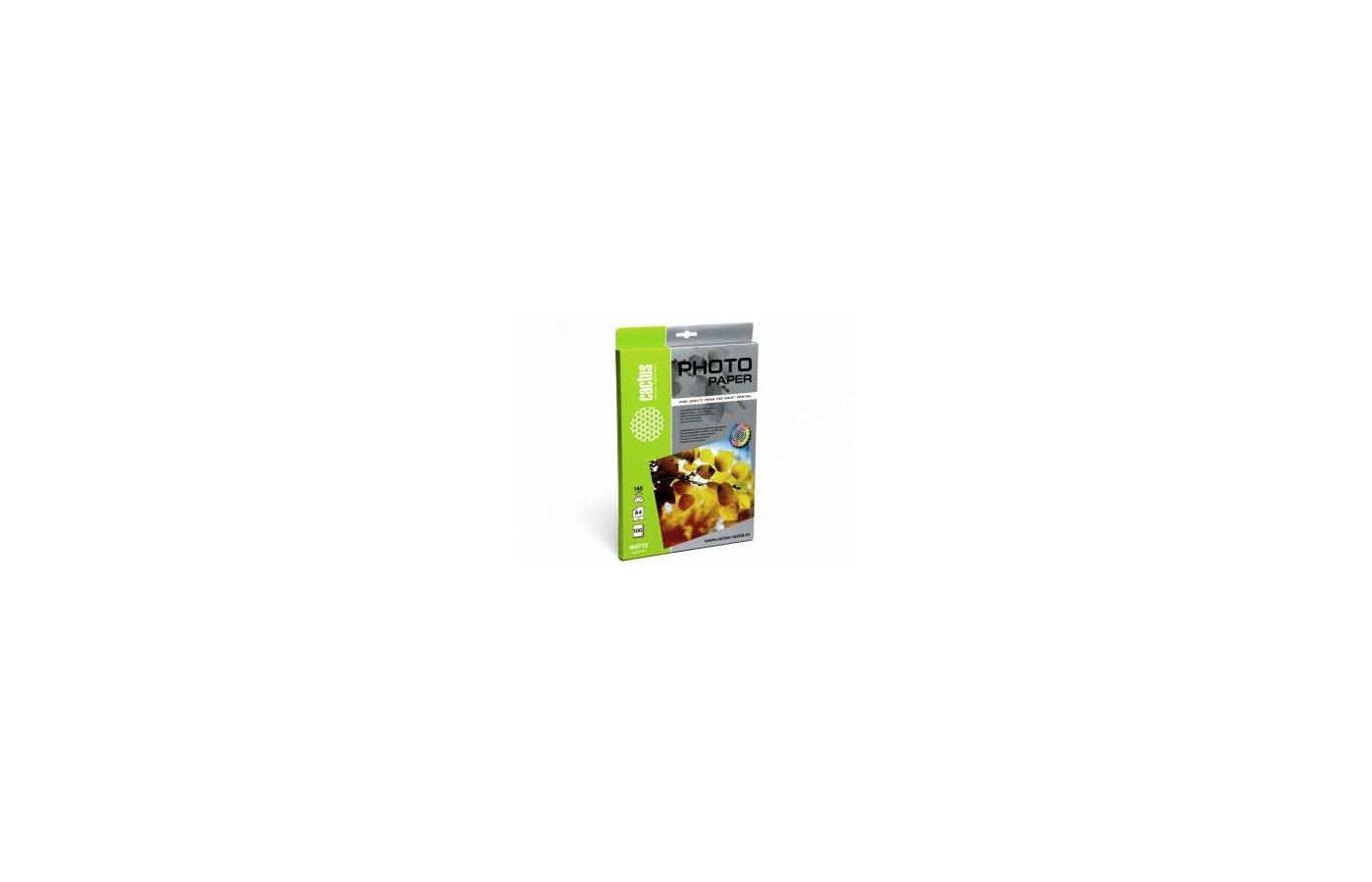 Фотобумага Cactus CS-MA4140100 A4/140г/м2/100л./белый матовое для струйной печати