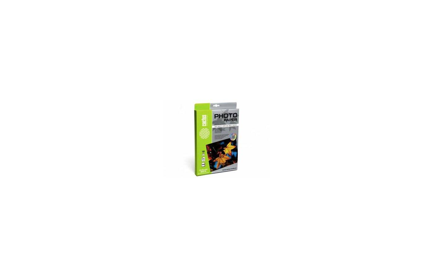 Фотобумага Cactus CS-MA4190100DS двусторонняя A4/190г/м2/100л./белый для струйной печати
