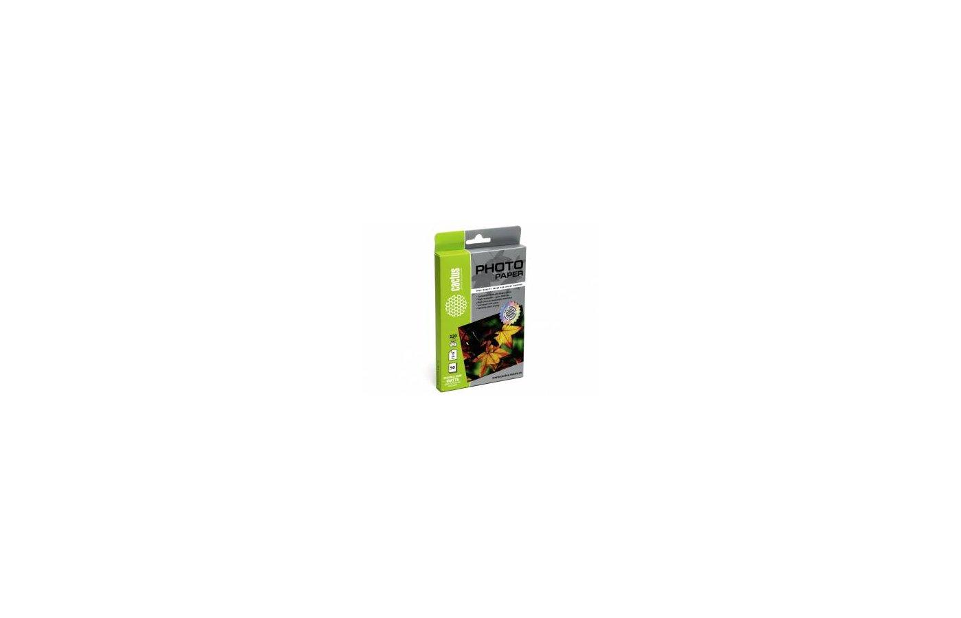 Фотобумага Cactus CS-MA622050DS двухсторонняя 10x15/220г/м2/50л./белый матовое/матовое для струйной печати