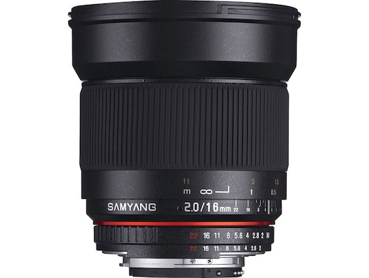 Объектив SAMYANG MF 16mm f/2.0 ED AS UMC CS Sony E (NEX)