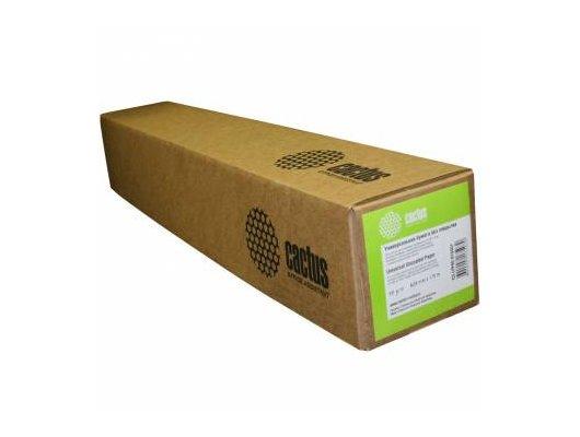 """Бумага Cactus универсальная бумага для плоттеров без покр 36"""",914ммх45,7м. 90 г/кв.м втулка 50,8мм (2"""")"""
