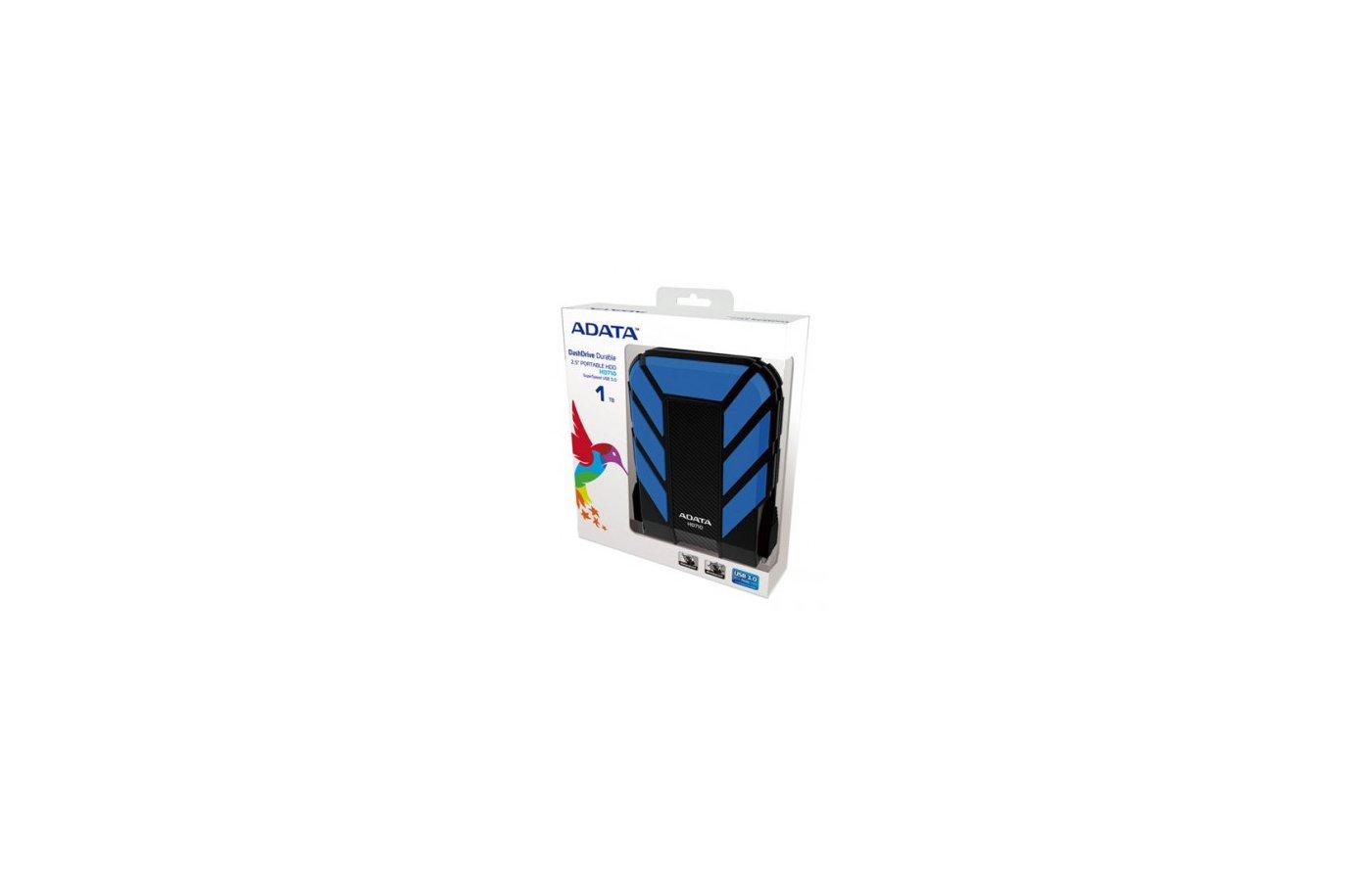"Внешний жесткий диск A-Data USB 3.0 1Tb HD710-1TU3-CBL 2.5"" синий"