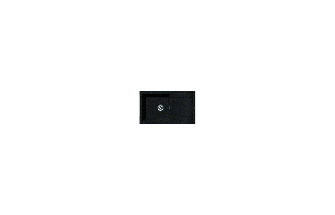 Кухонная мойка Florentina ЛИПСИ 860 Черный FG