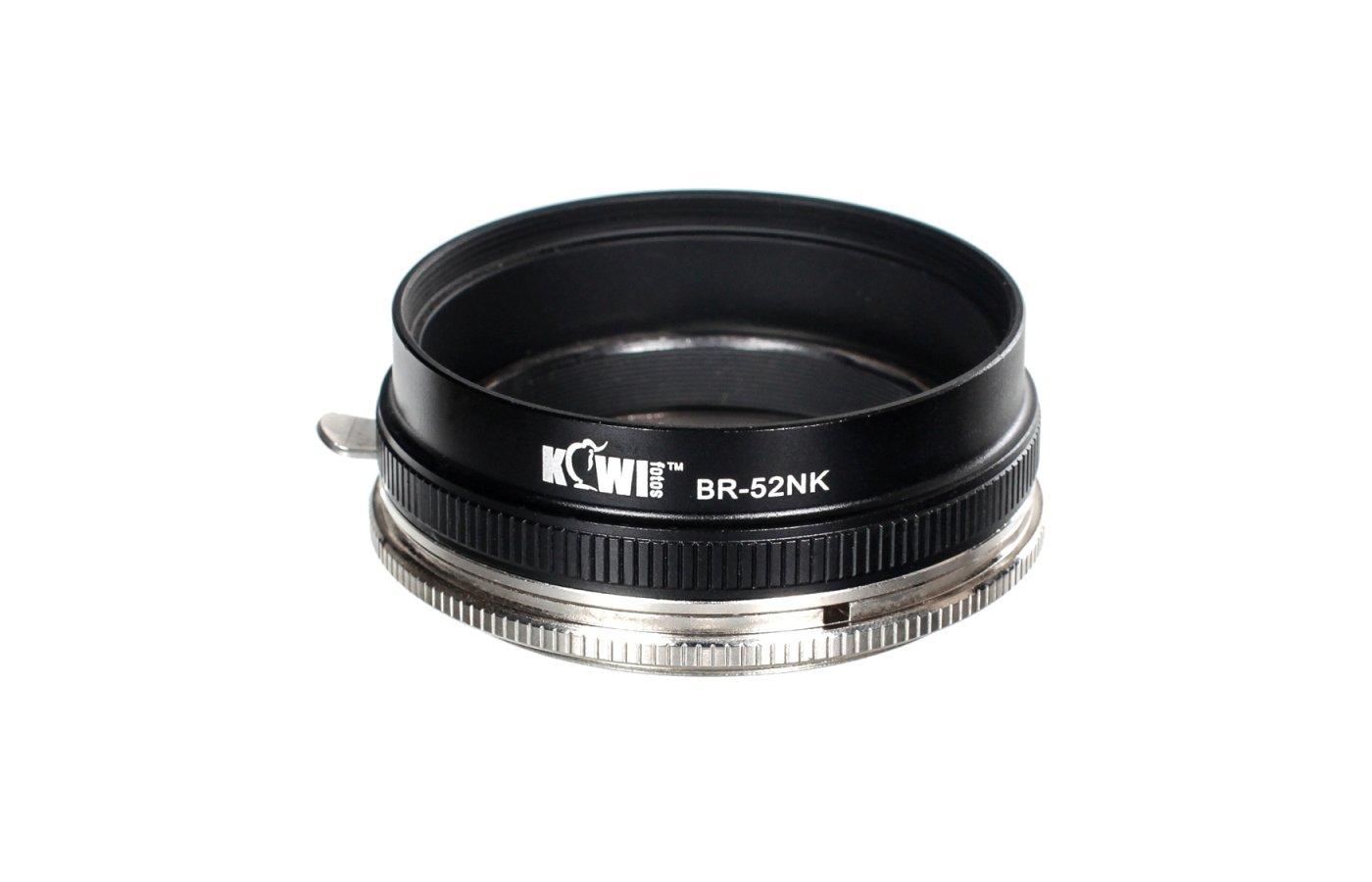 JJC KIWIFOTOS BR-1K Комплект реверсивное кольцо+адаптер фильтра для NIKKOR 52mm