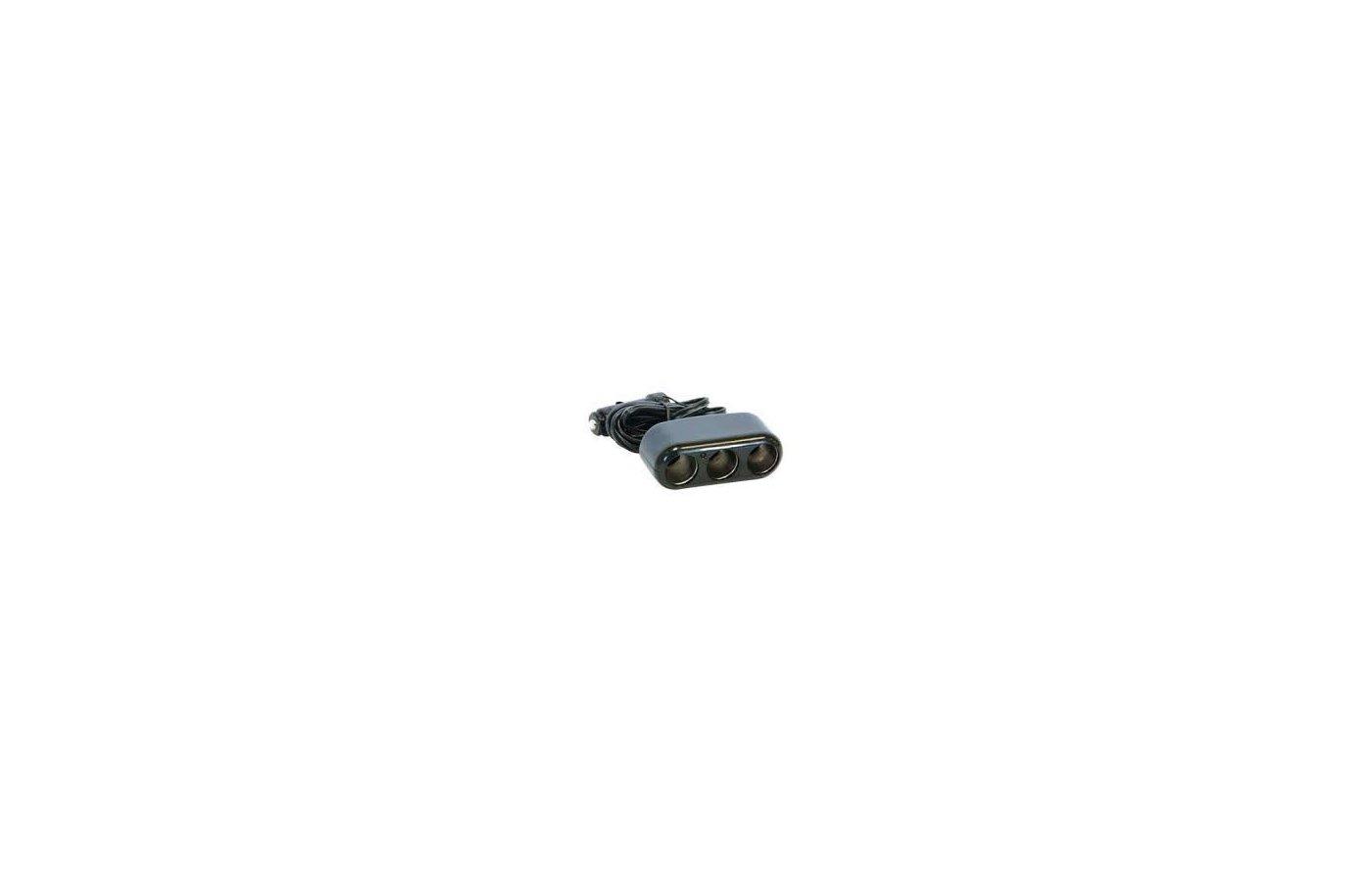 Разветвитель  AVS СS-301 (JL403G) 12/24V 3 в 1 с проводом