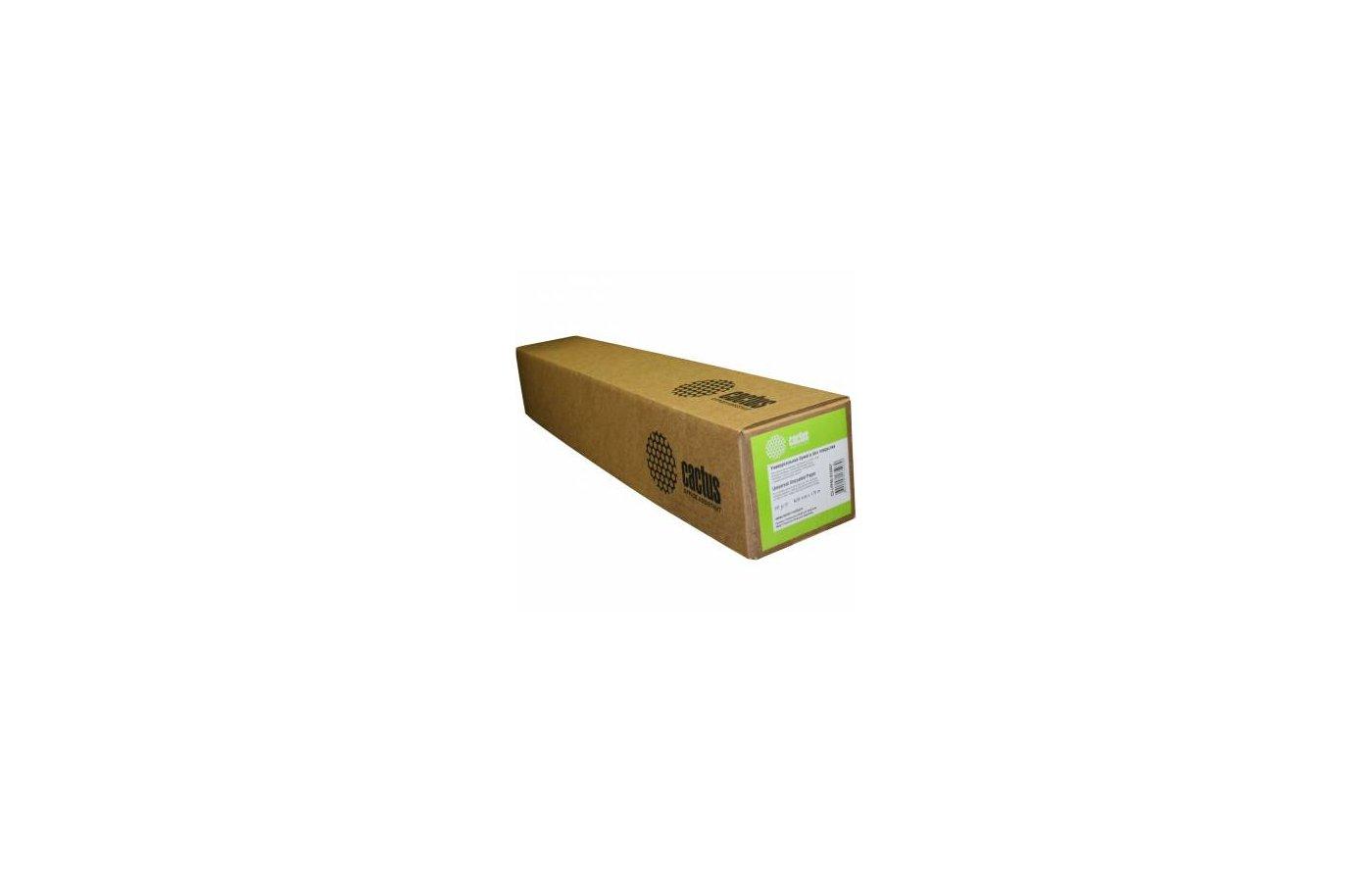 """Бумага Cactus универсальная инженерная бумага без покрытия А0+ 914ммх175м. 80 г/кв.м втулка 76,2мм (3"""")"""