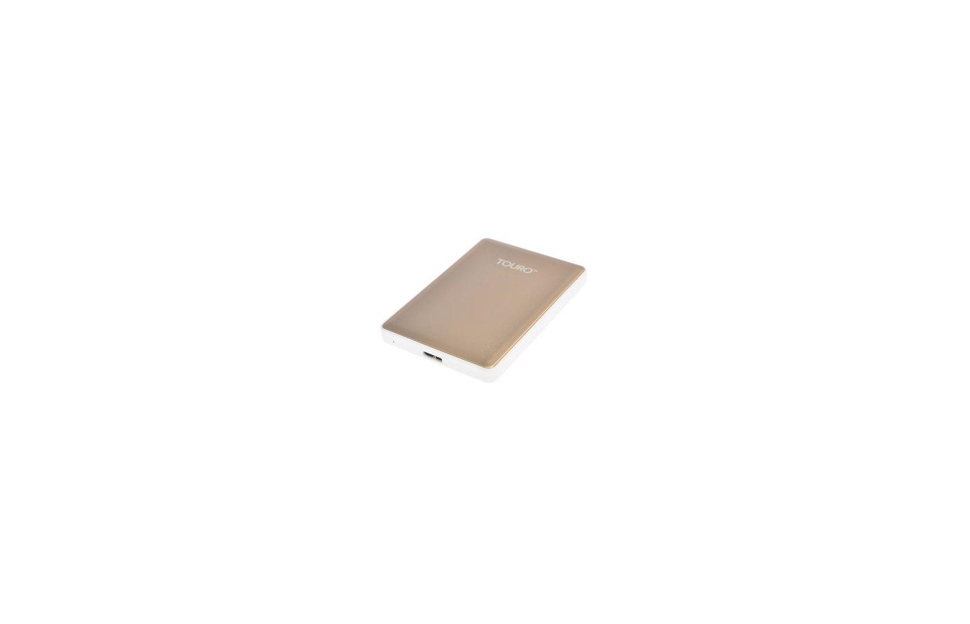 """Внешний жесткий диск HGST USB 3.0 1Tb HTOSEA10001BGB Touro S (7200 об/мин) 2.5"""" золотистый"""