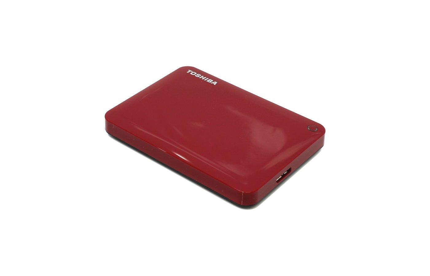 Внешний жесткий диск Toshiba HDTC810ER3AA 1Tb USB 3.0 CANVIO Connect II 2.5 красный