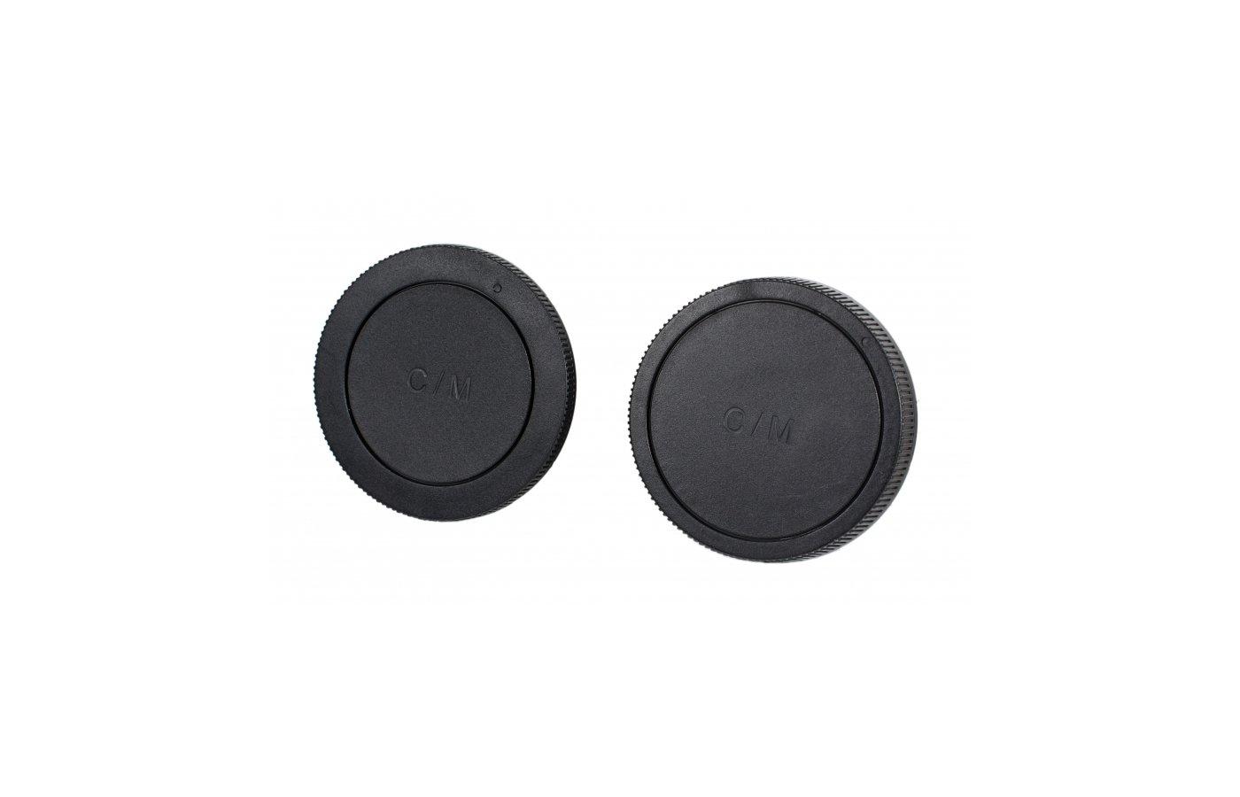 Бленда JJC крышка для объектива задняя + крышка байонета камеры Canon EOS M