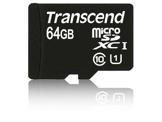 Карта памяти Transcend microSDXC 64Gb Class 10