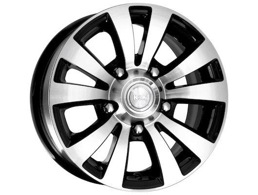 Диск K&K Фалкон-Нова 6x15/5x139.7 D98 ET35 Алмаз черный