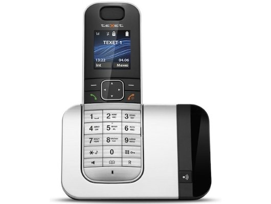 Радиотелефон TeXet TX-D7605A черный/серебристый