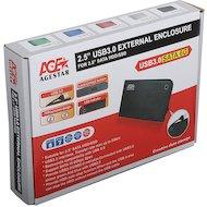 Фото Корпус для жесткого диска AgeStar 3UB2A14 USB 3.0-SATA пластик/алюминий черный