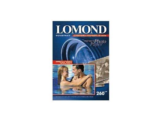Фотобумага Lomond 1103101 A4/260г/м2/20л. высокоглянцевая для струйной печати