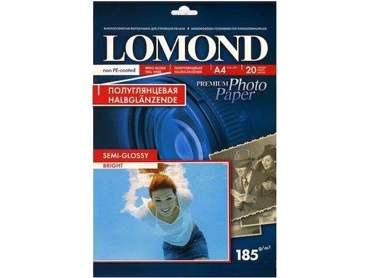Фотобумага Lomond 1101306 A4/185г/м2/20л. полуглянцевая для струйной печати Non-PE Coated