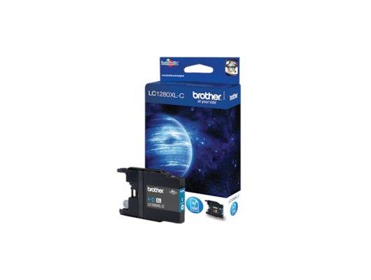 Картридж струйный Brother LC1280XL голубой повышенной ёмкости для MFC-J6510DW, MFC-J6910DW, MFC-J5910DW (1200 стр.)