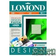 """Фотобумага Lomond 0933041 A4/230г/м2/10л. матовая """"Лен"""" для струйной печати Дизайн Премиум"""