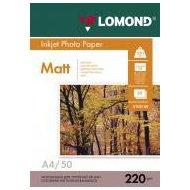 Фото Фотобумага Lomond 0102144 A4/220г/м2/50л. матовая/матовая для струйной печати