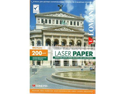 Фотобумага Lomond 0300341 A4/200г/м2/250л./белый матовое/матовое для лазерной печати