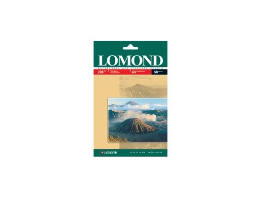 Фотобумага Lomond 0102070 A5/230г/м2/50л. глянцевая для струйной печати 720/1440dpi hv