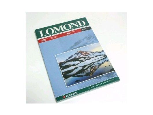 Фотобумага Lomond 0102020 A4/200г/м2/50л./белый глянцевое для струйной печати