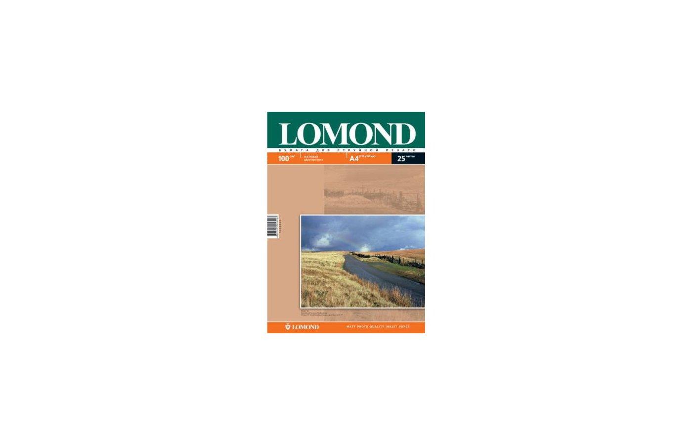 Фотобумага Lomond 0102038 A4/100г/м2/25л. матовая для струйной печати до 2880dpi