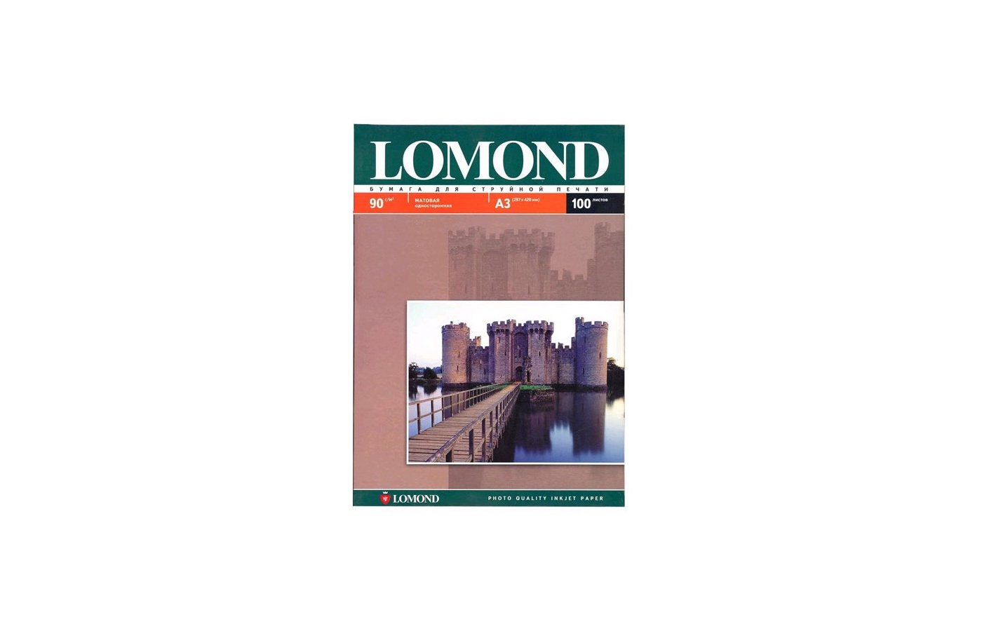 Фотобумага Lomond 0102011 A3/90г/м2/100л. матовая для струйной печати 720/1440dpi