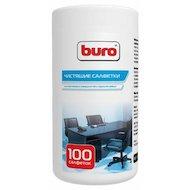 Чистящее средство BURO BU-Tsurl 100 шт. для пластиковых поверхностей и офисной мебели туба 100шт влажных
