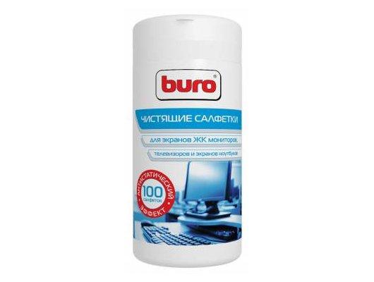 Чистящее средство BURO BU-Tscreen 100 шт для экранов мониторов/плазменных/ЖК телевизоров/ноутбуков туба 100шт влажных
